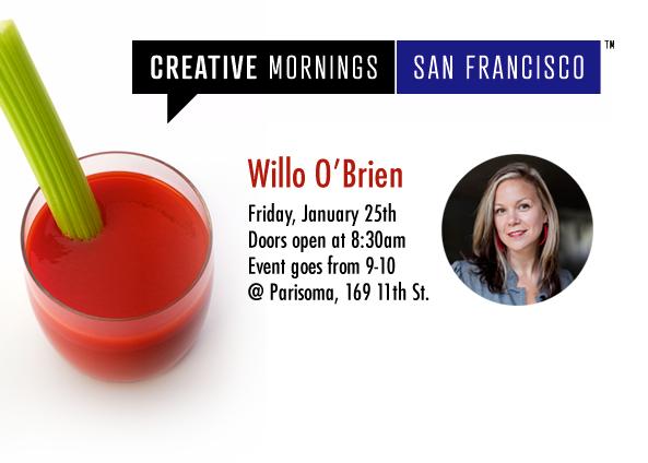 Creative Mornings San Francisco Willo O'Brien WilloToons