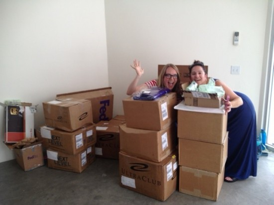 Yay, all of our boxes arrived! The work begins...
