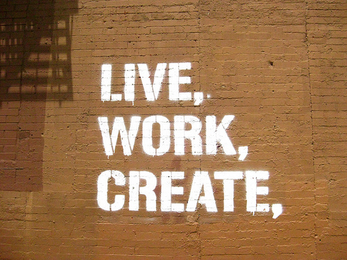 LIVE, WORK, CREATE,